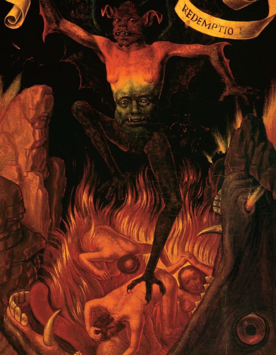 """Ганс Мемлинг. Сатана (правая часть триптиха """"Земное тщеславие и Божественное спасение"""")"""