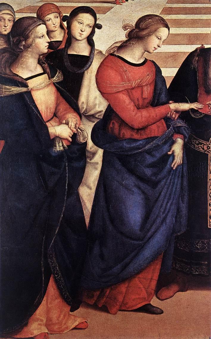 Рафаэль Санти. Обручение Богородицы. Фрагмент: Дева Мария