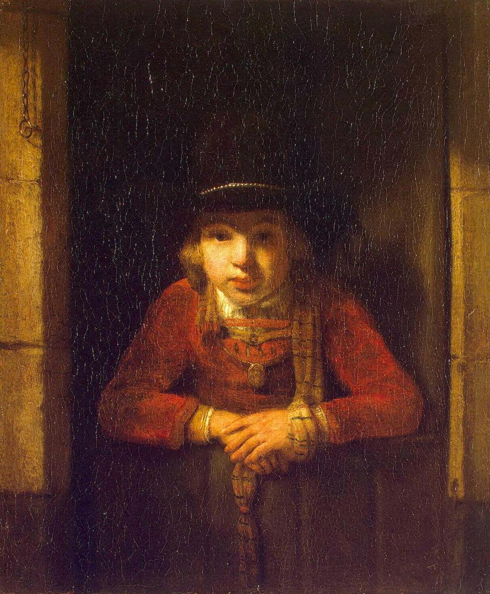 Самюэл ван Хогстратен. Мальчик в окне
