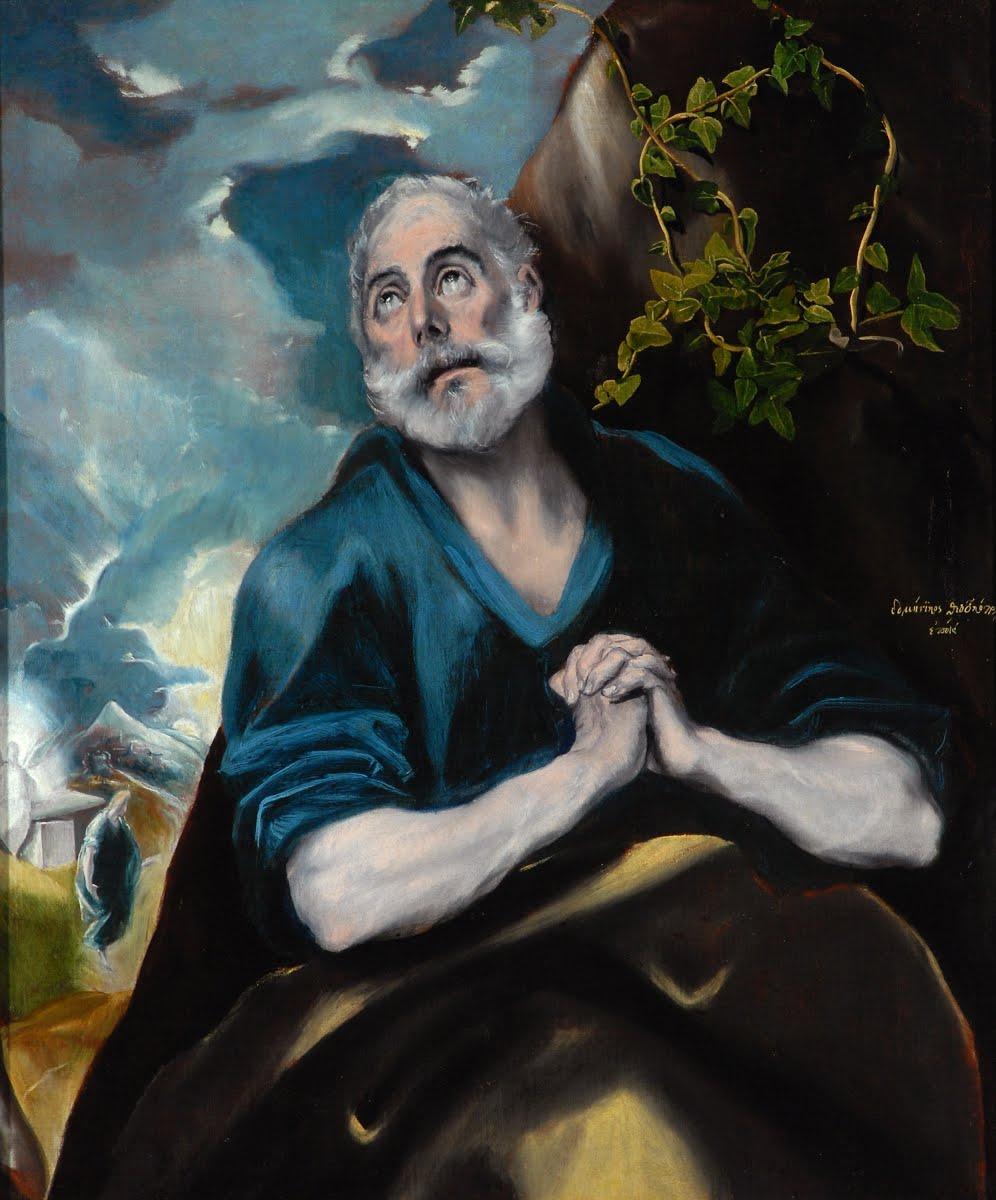 Domenico Theotokopoulos (El Greco). Tears of St. Peter
