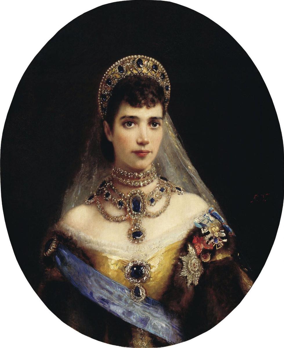 Константин Егорович Маковский. Портрет императрицы Марии Федоровны - супруги императора Александра III