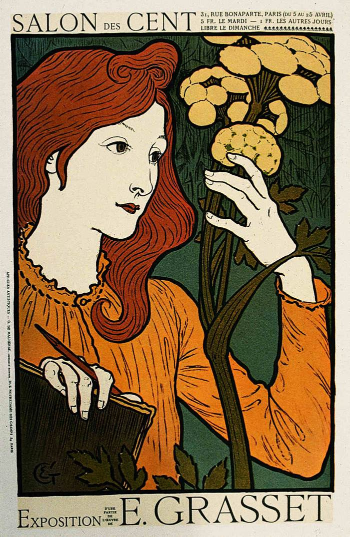 Eugene Grasse. Exhibition poster by Eugène Grasset