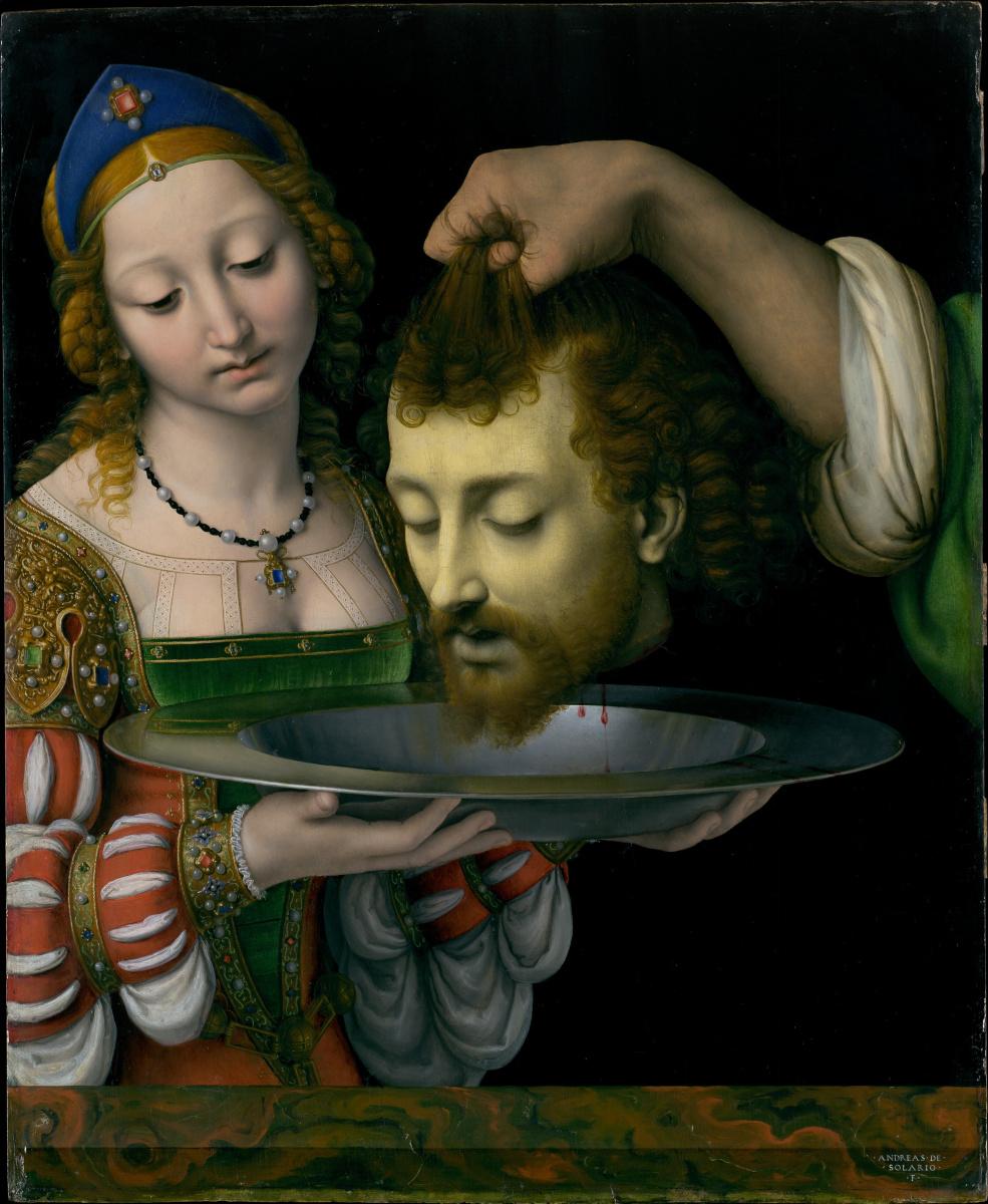 Andrea Solario. Salome with the Head of Saint John the Baptist