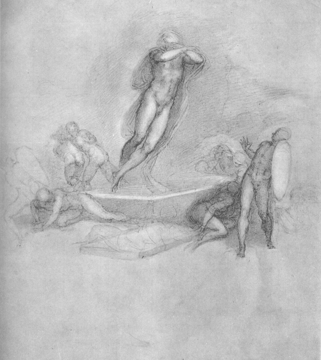 Микеланджело Буонарроти. Воскрешение. Набросок.