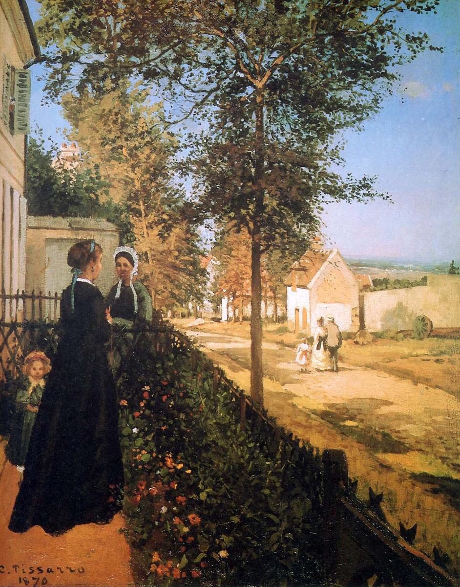 Камиль Писсарро. Дорога из Версаля