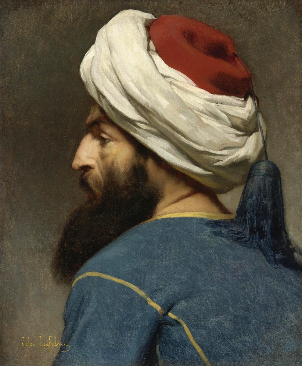 Jules Joseph Lefebvre. Portrait of a Turk.