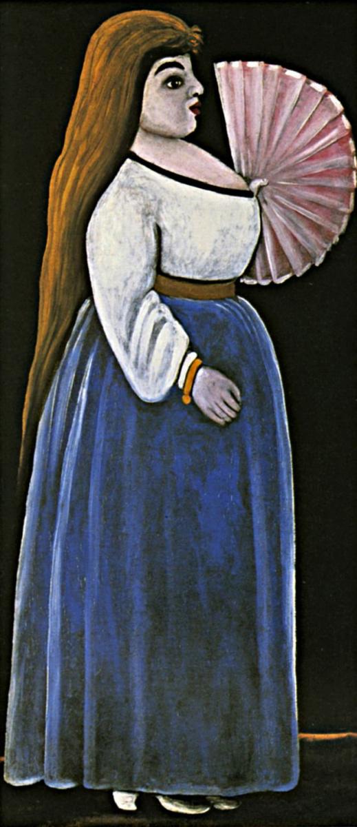Нико Пиросмани (Пиросманашвили). Ортачальская красавица с веером