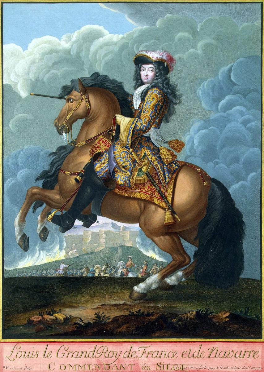 Пауль ван Младший Сомер. Конный портрет Людовика XIV, командующего войсками