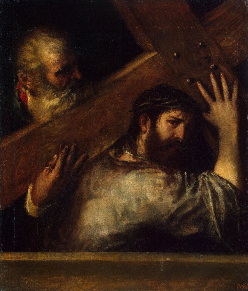 Titian Vecelli. The carrying of the cross