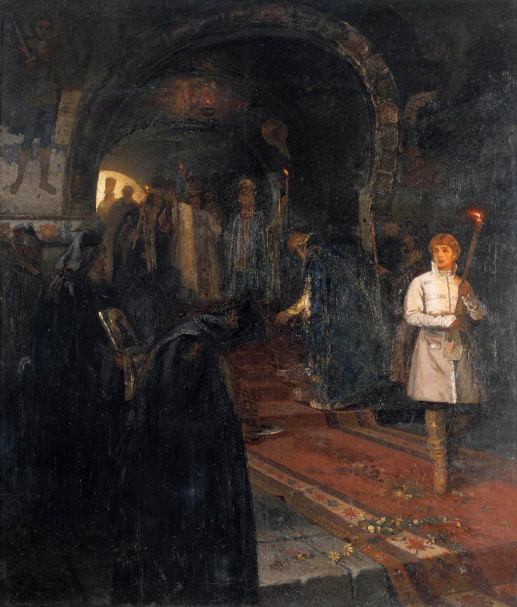 Mikhail Vasilyevich Nesterov. To the sovereign of celebitchy