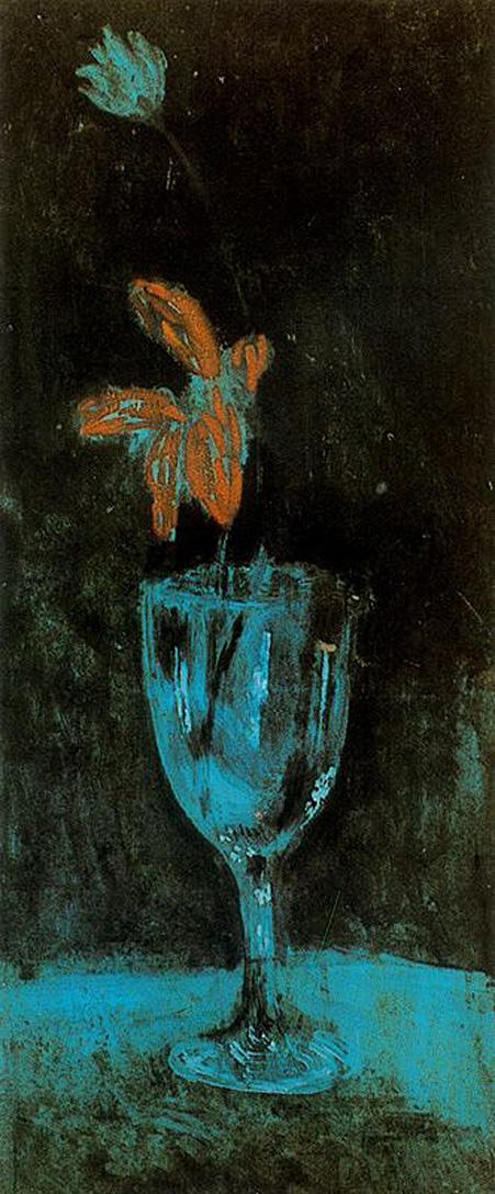 Пабло Пикассо. Голубая ваза