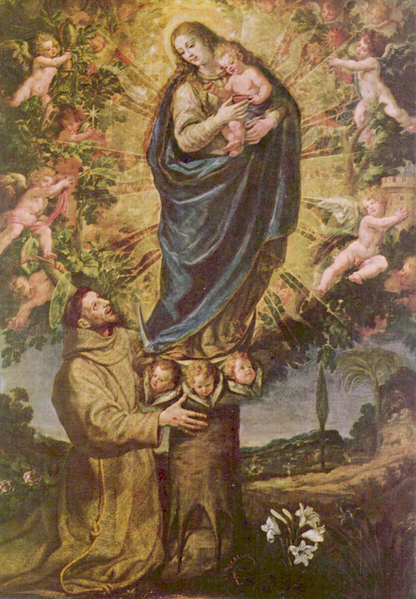 Vicente, Carducho. The vision of St. Francis