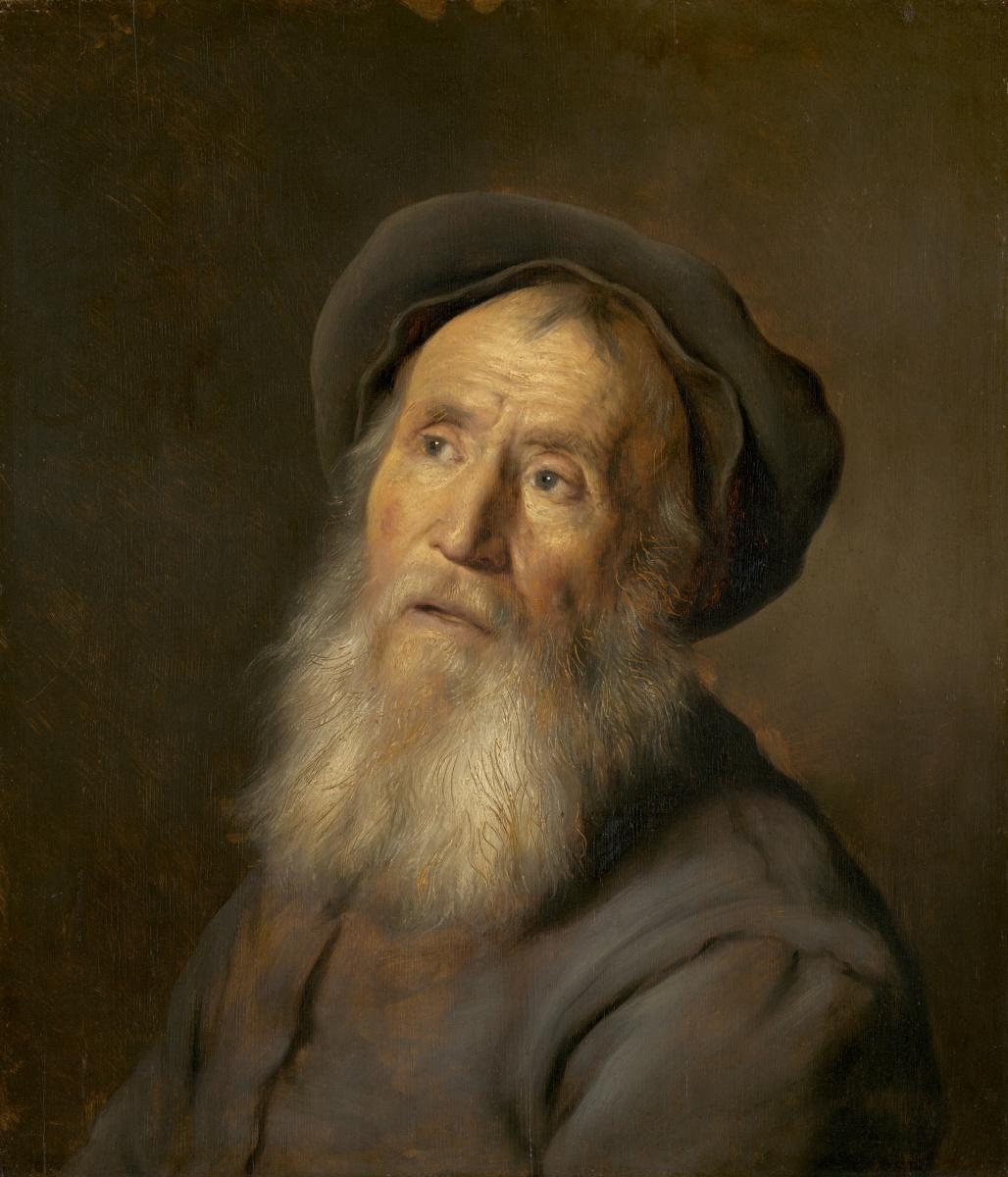 Ян Ливенс. Бородатый старик в берете