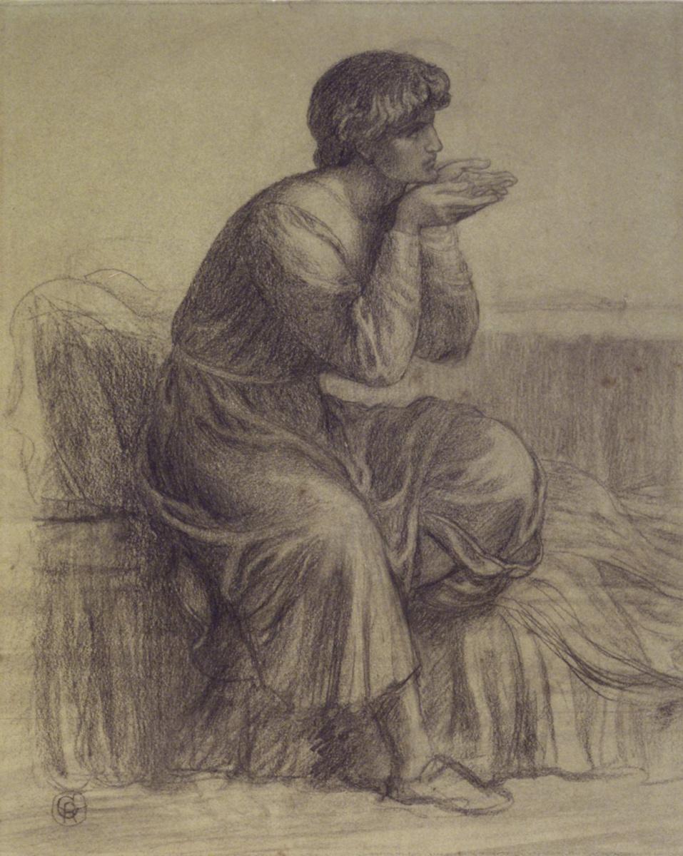 Данте Габриэль Россетти. Портрет Данте. Эскиз