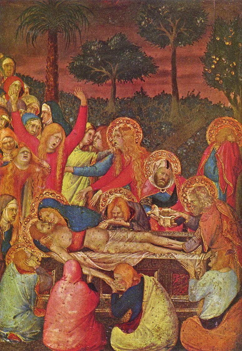 Симоне Мартини. Положение во гроб