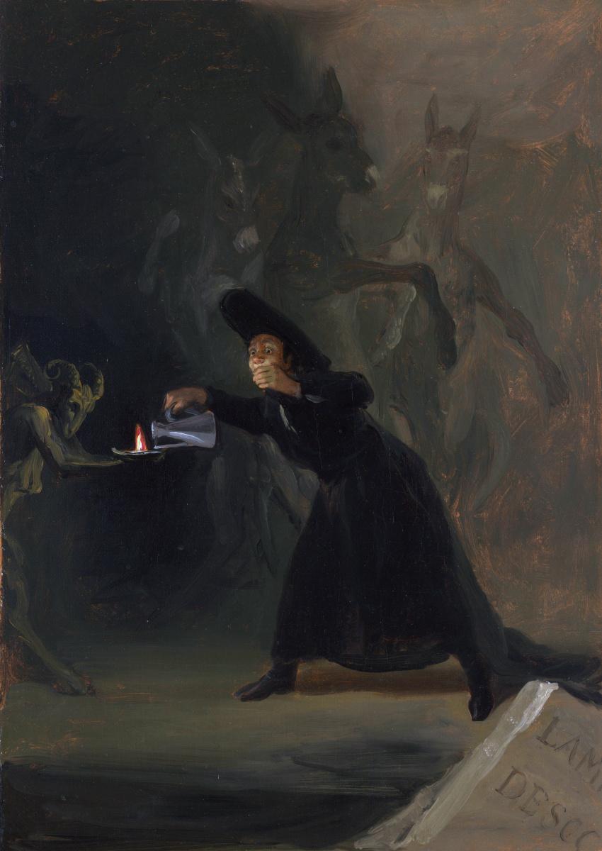 Де Гойи Франсиско. Сцена из принудительно заколдованный