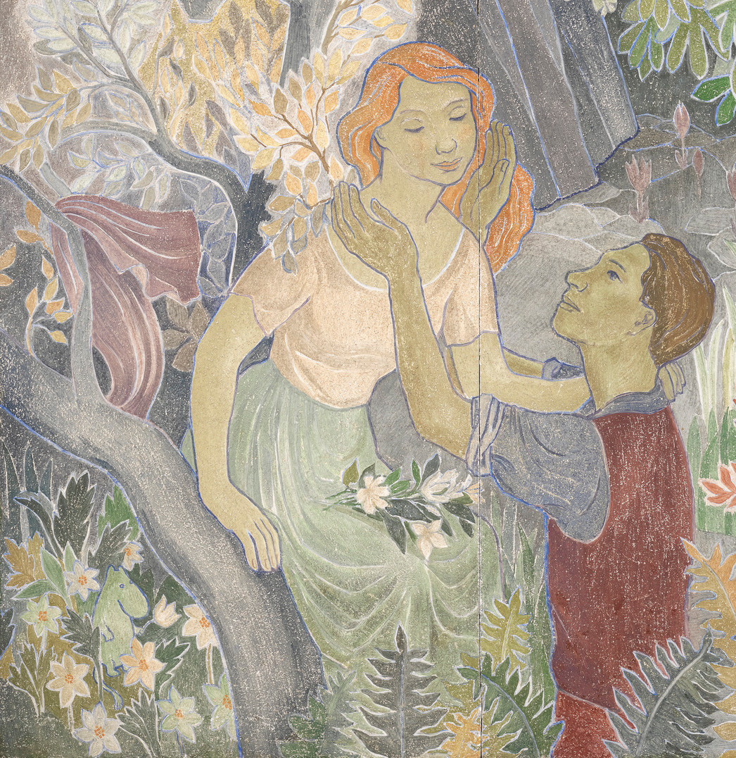 Tove Jansson. Holiday in the village. Fragment. Lovers and moomin troll