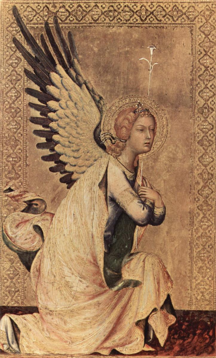 Симоне Мартини. Алтарь Орсини. Ангел благовещения