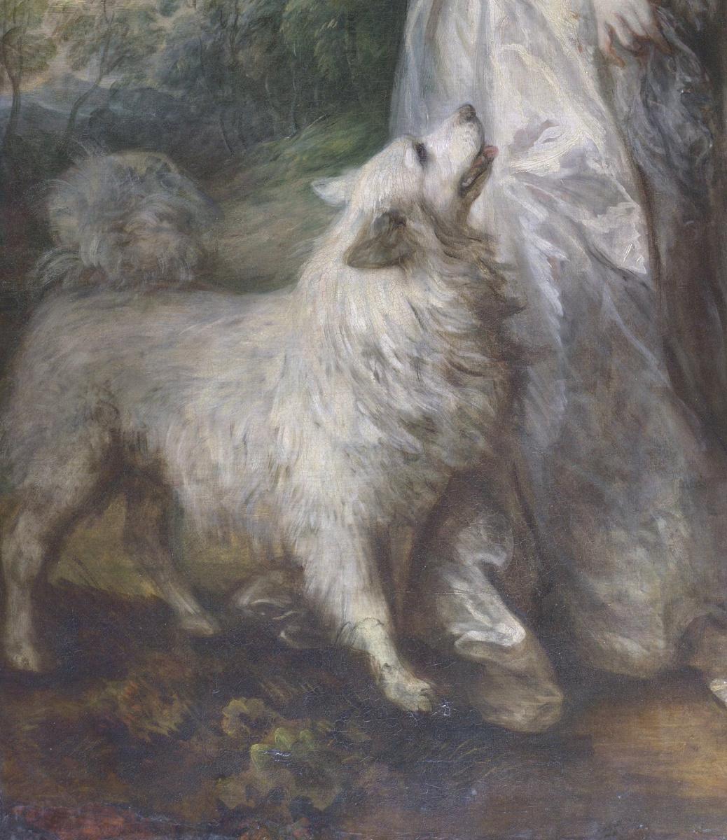 Томас Гейнсборо. Утренняя прогулка. Портрет сквайра Уильяма Хэллета с супругой Элизабет. Фрагмент III