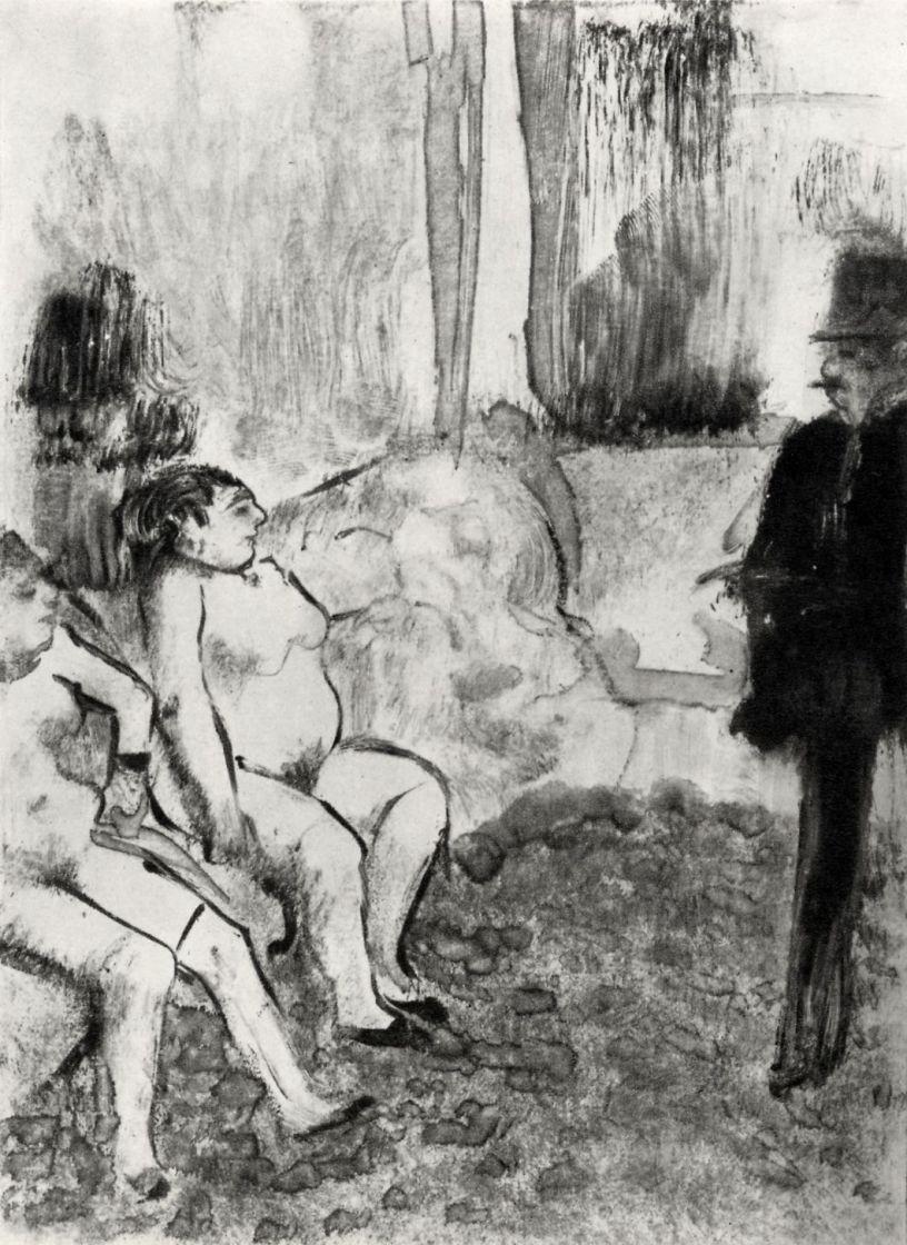 Edgar Degas. The client