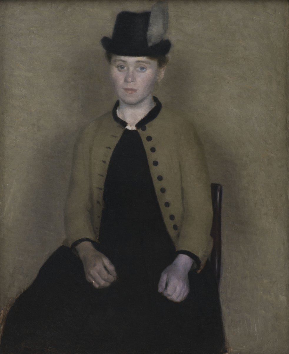 Vilhelm Hammershøi. Portrait of Ida стlsted, later - the artist's wife