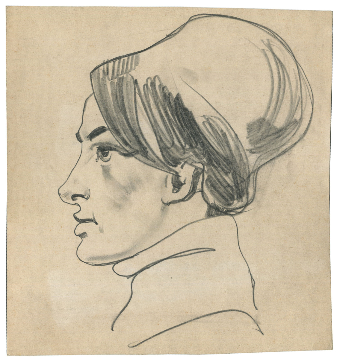 Alexandrovich Rudolf Pavlov. A sketch of a woman's head.