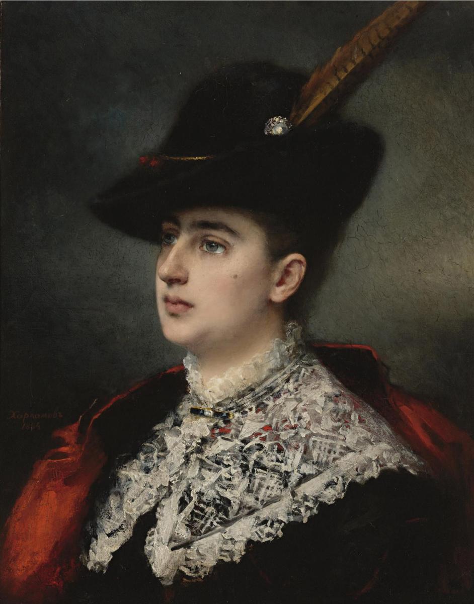Алексей Алексеевич Харламов. Дама в костюме для охоты. 1884