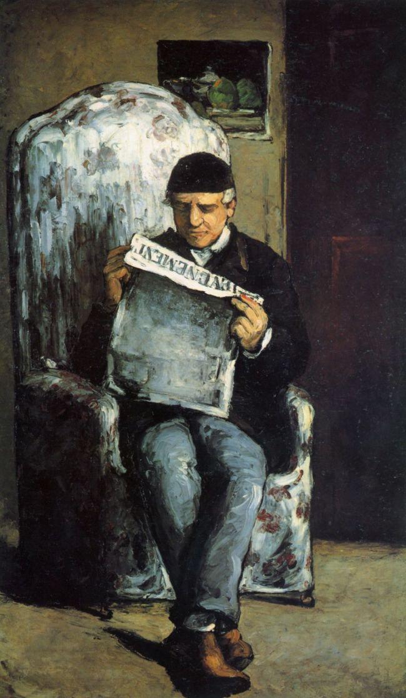 Поль Сезанн. Портрет Луи Августа Сезанна, отца художника