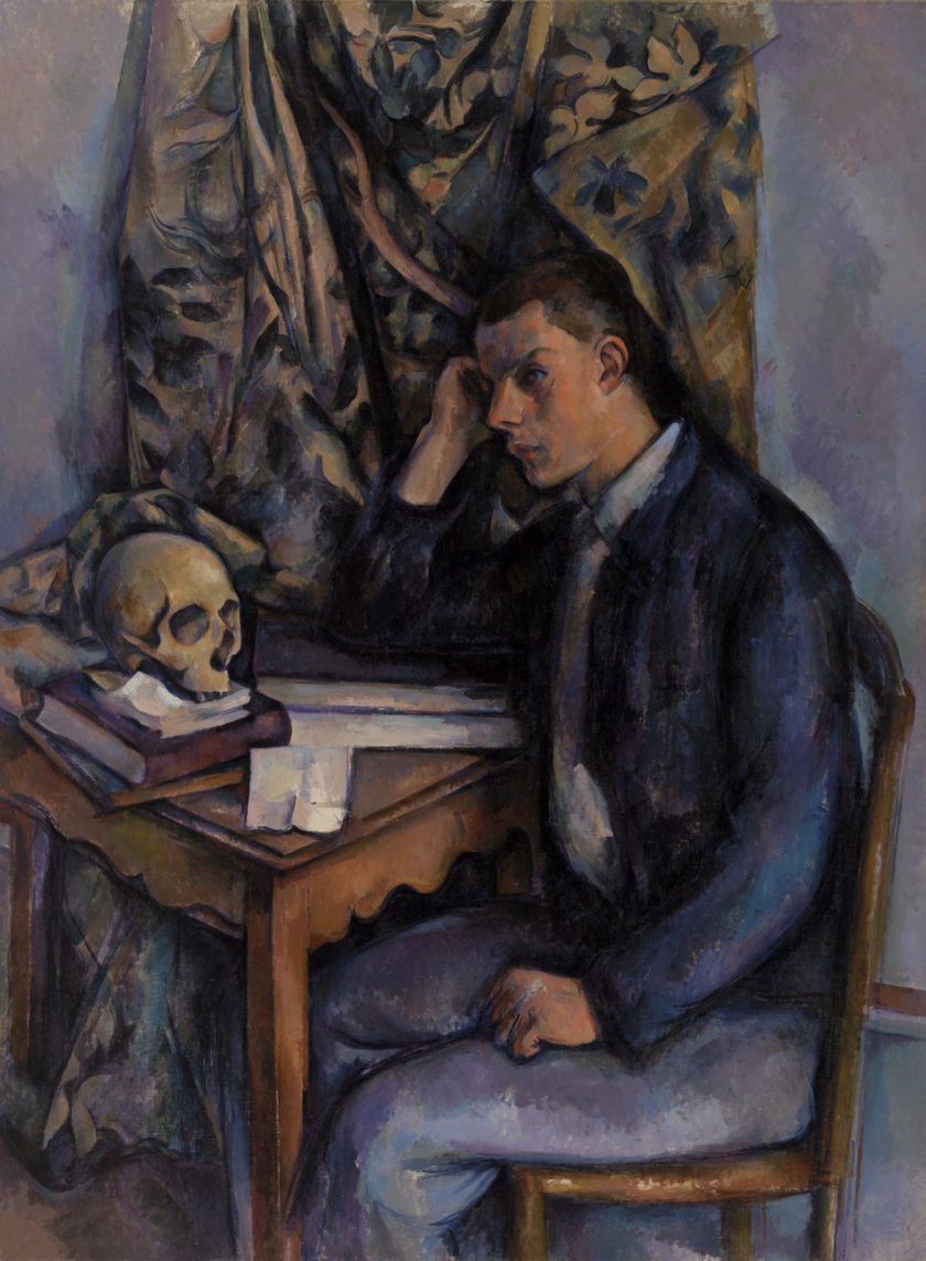 Paul Cezanne. A young man with a skull