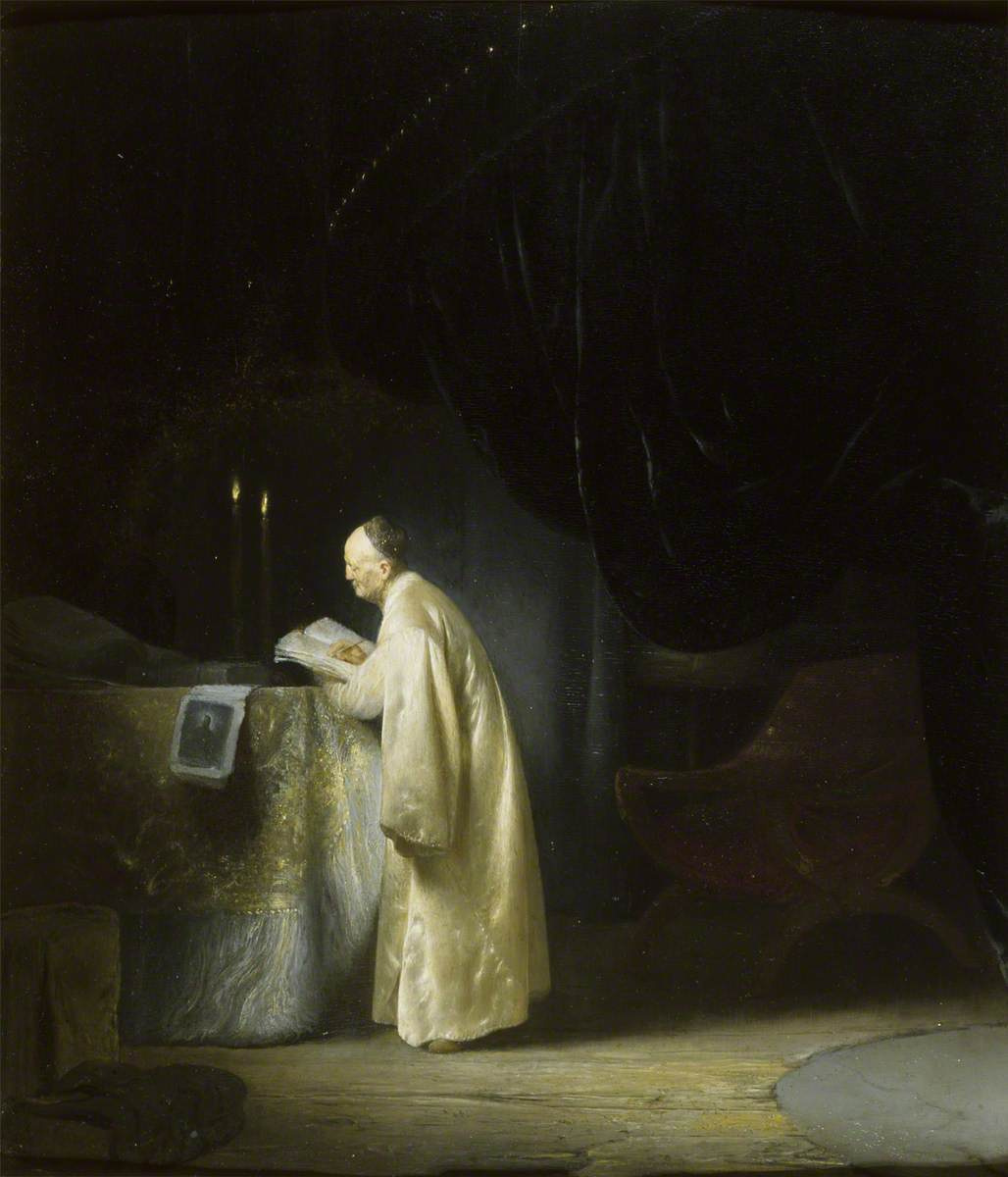 Jan Lievens. At the table for prayer