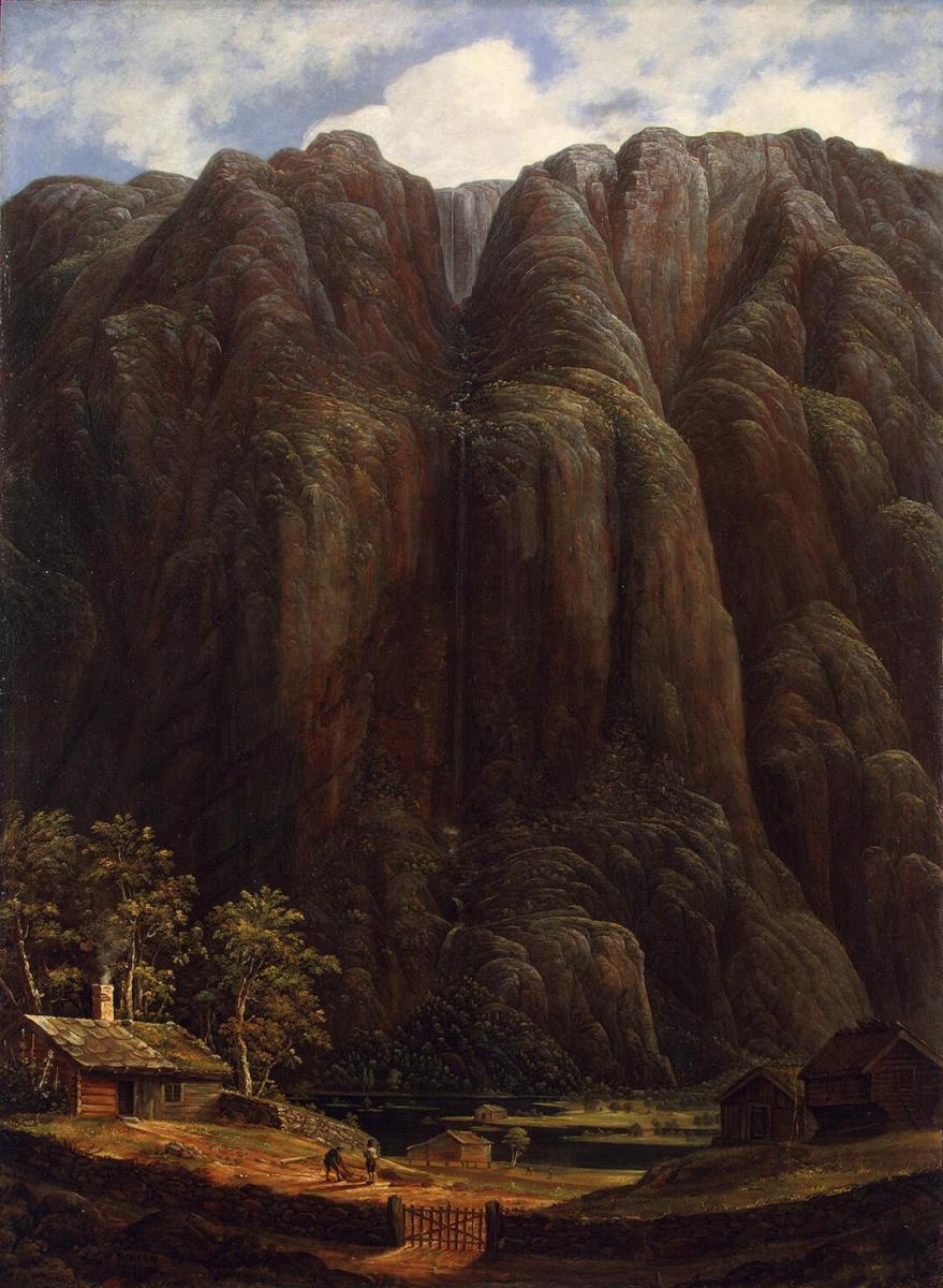 Карл Петер Леман. Скалы и водопад в Норвегии