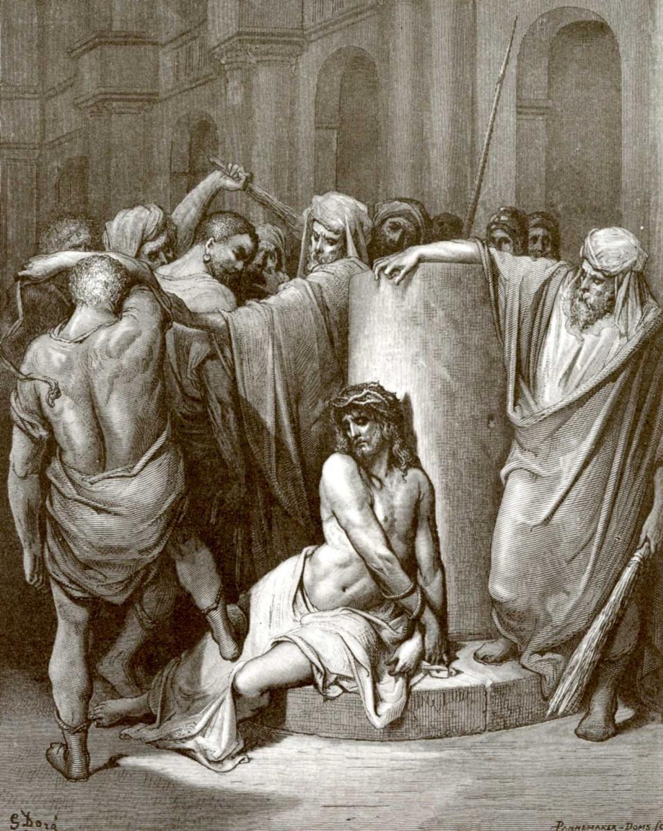 Поль Гюстав Доре. Иллюстрация к Библии: Бичевание