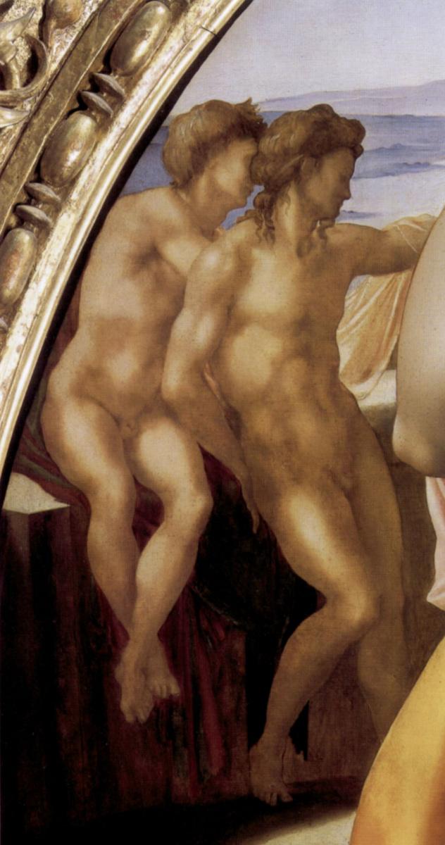 Микеланджело Буонарроти. Мадонна Дони. Фрагмент
