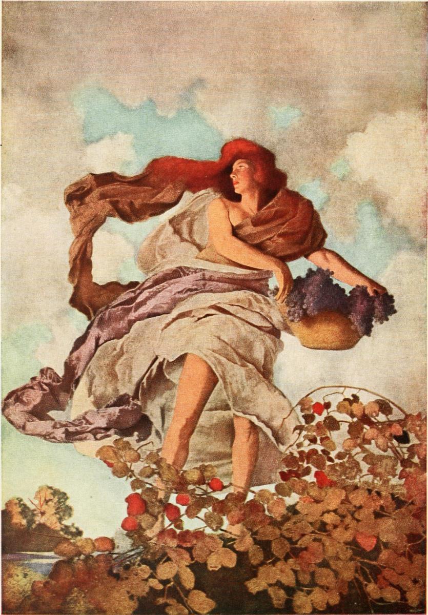 """Максфилд Пэрриш. """"Золотой век"""". Осенние цветы"""