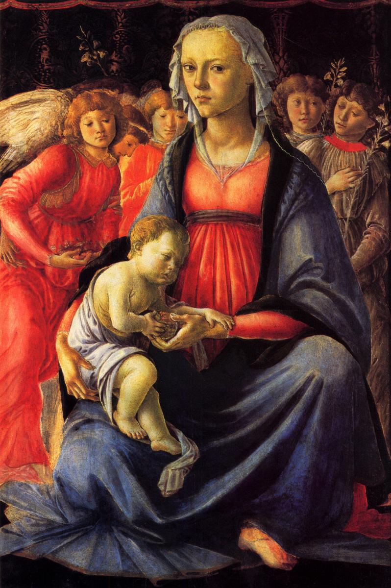 Сандро Боттичелли. Богоматерь с ребенком и пятью ангелами
