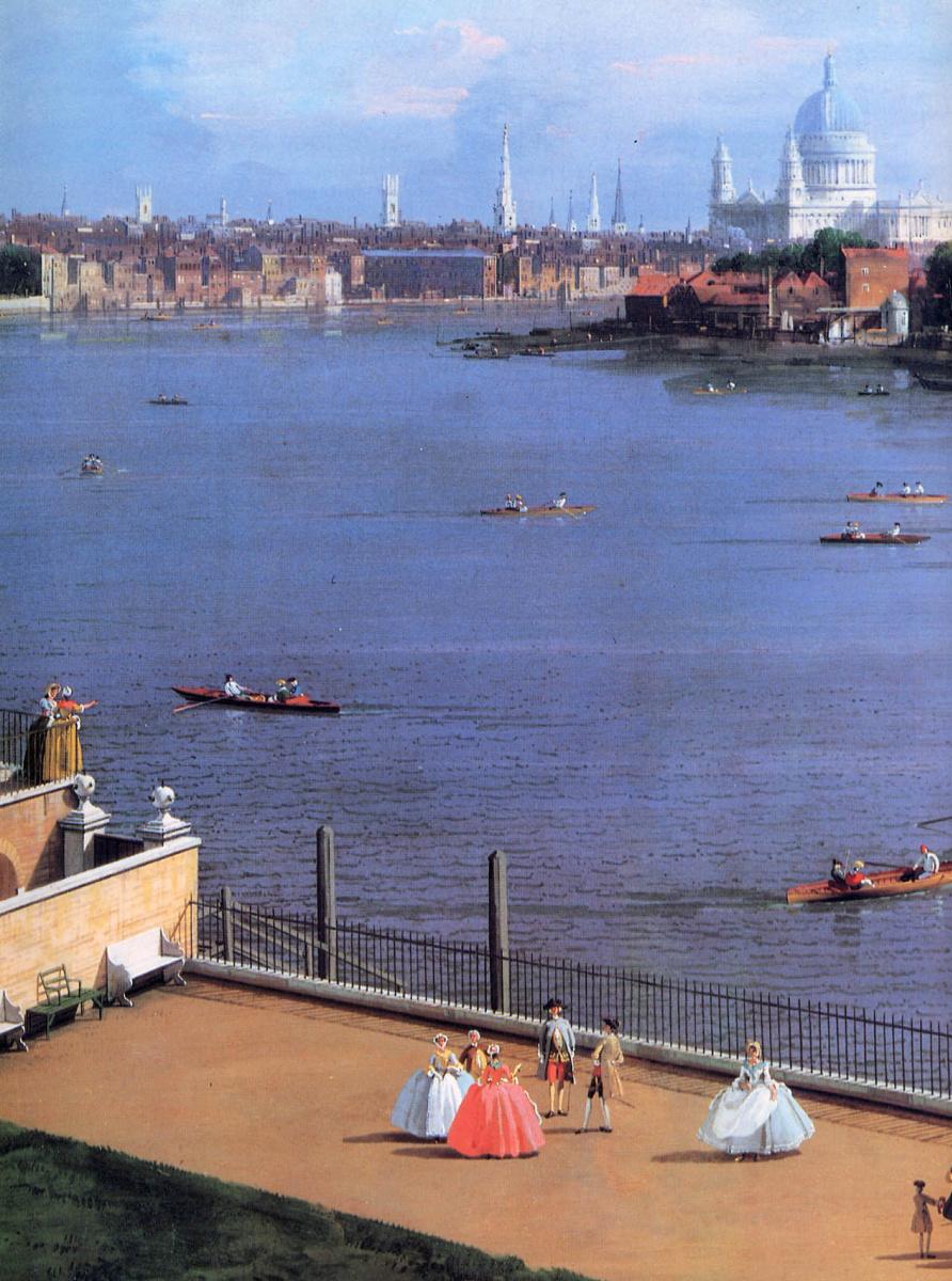 Джованни Антонио Каналь (Каналетто). Вид на Темзу