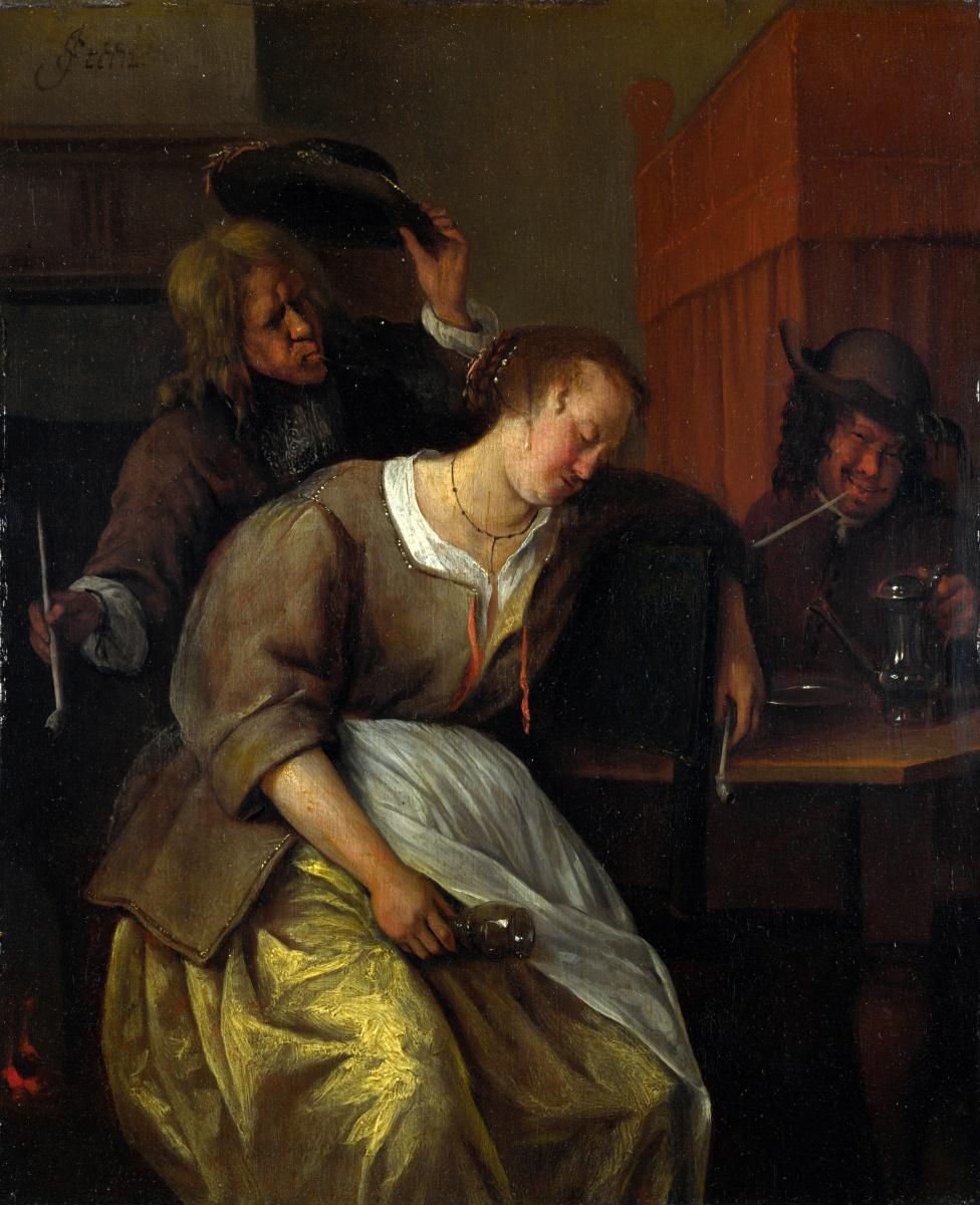 Ян Стен. Мужчина и пьяная женщина