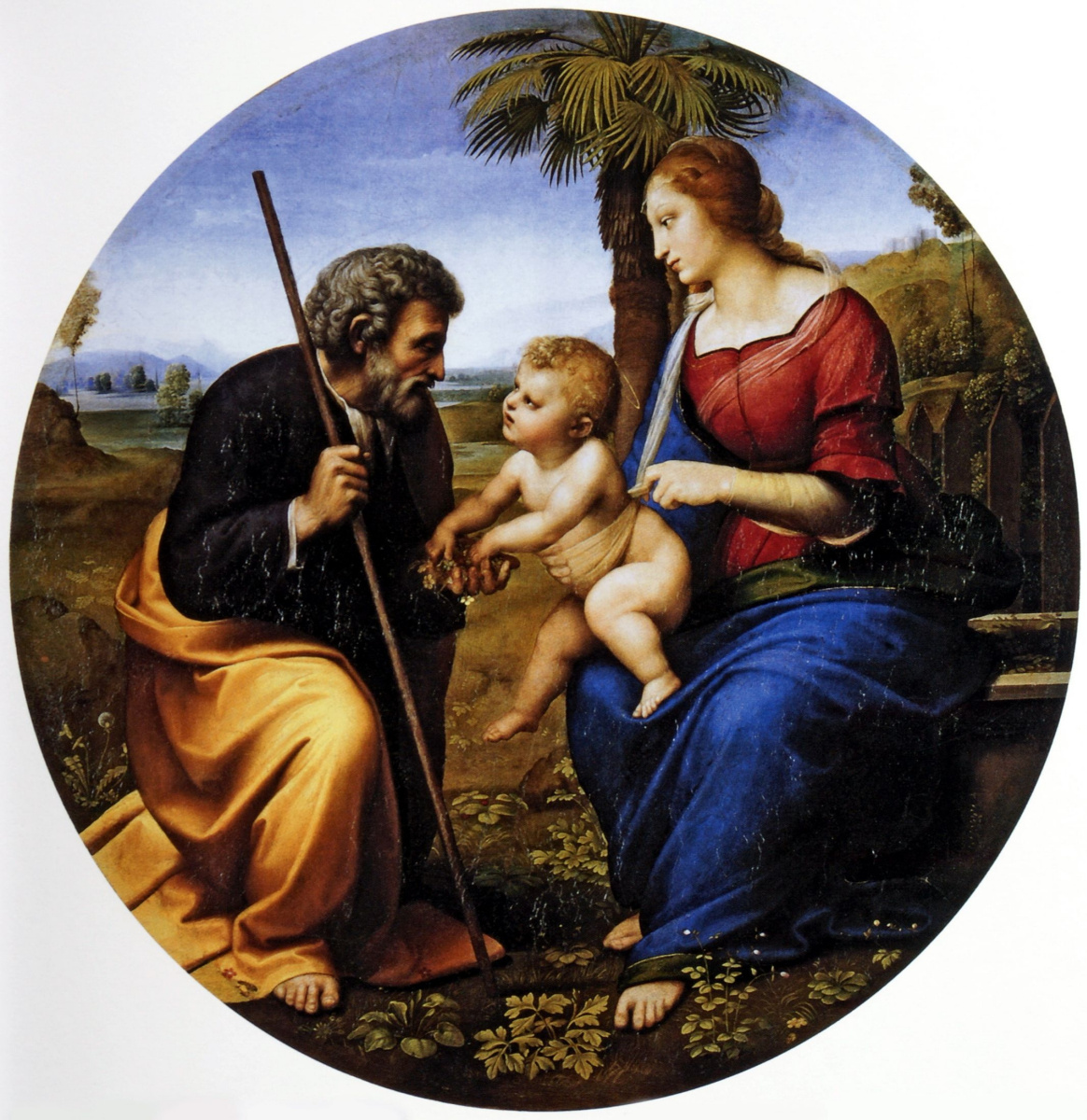 Raphael Sanzio. Holy family under a palm tree (Madonna under a palm tree)