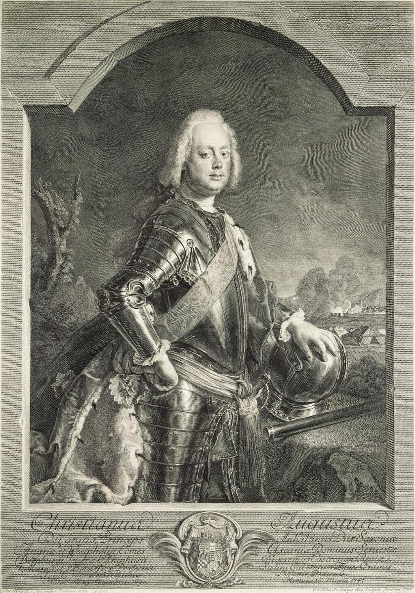 Георг Фридрих Шмидт. Портрет принца Христиана Августа Ангальт-Цербского
