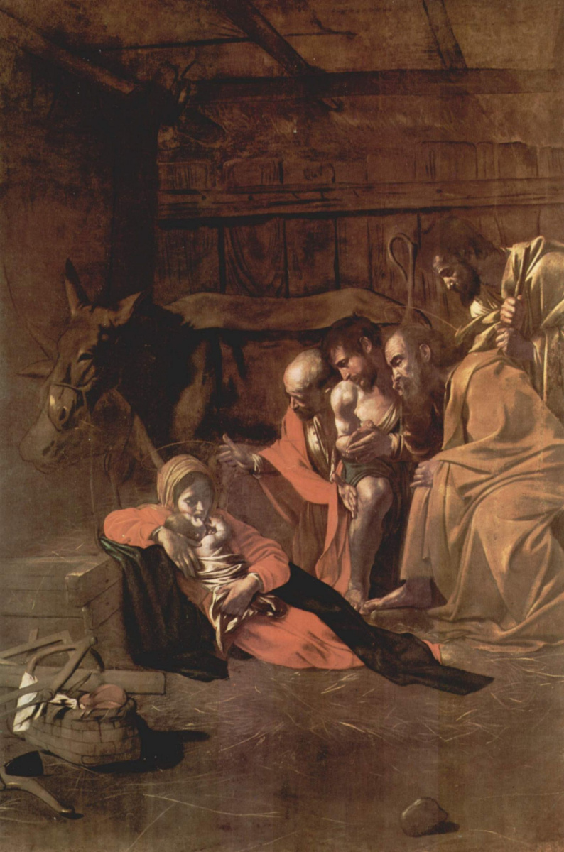 Микеланджело Меризи де Караваджо. Поклонение пастухов