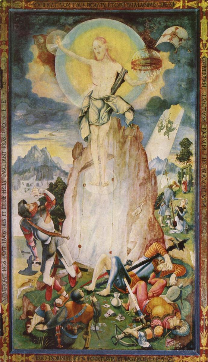 Йерг Ратгеб. Херренбергский алтарь, правая внешняя створка, сцена внутри. Воскресение Христово