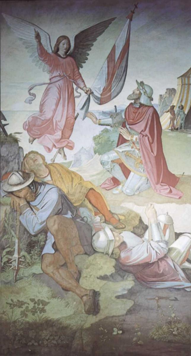 Иоганн Фридрих Овербек. Архангел Гавриил поручает Готфриду Бульонскому освобождение Иерусалима