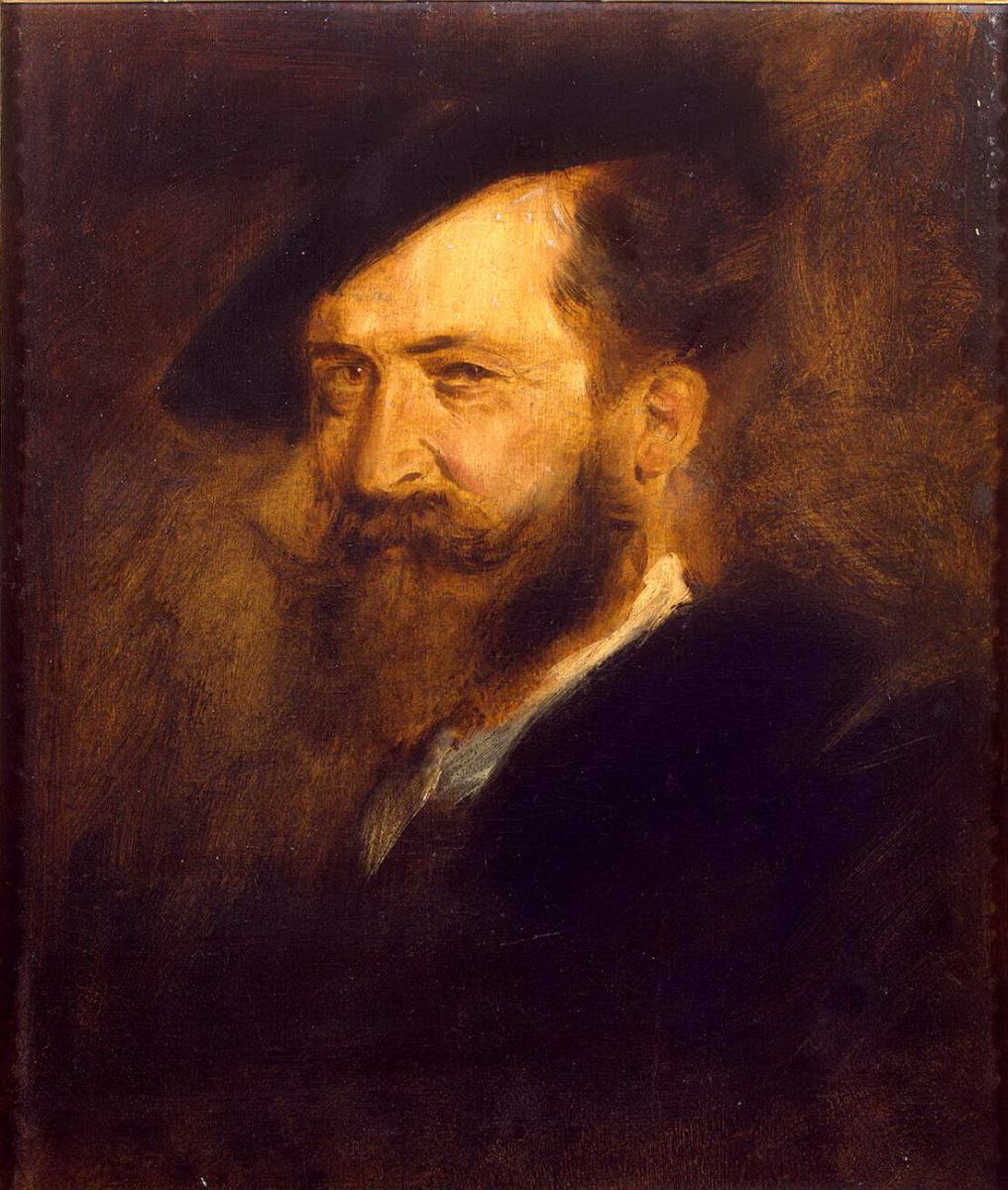 Франц фон Ленбах. Портрет Вильгельма Буша
