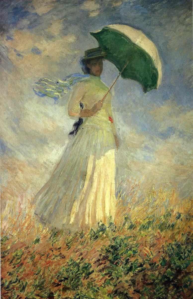 Клод Моне. Женщина с зонтиком, повернута вправо (этюд)
