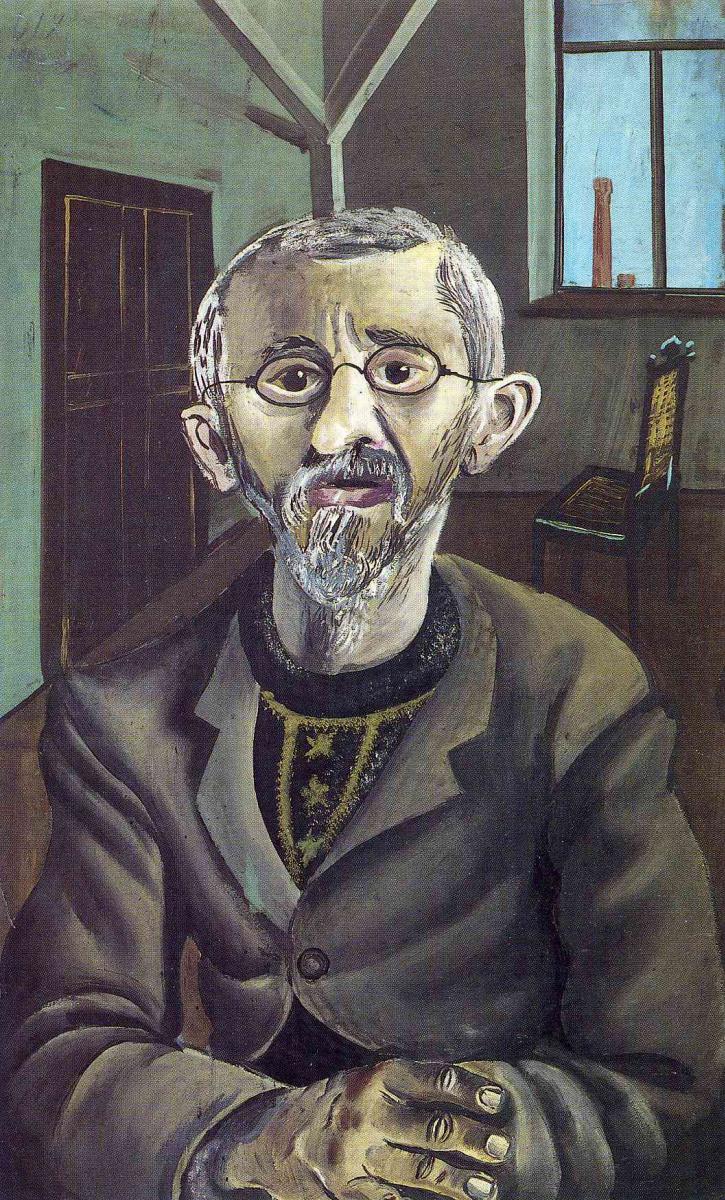 Отто Дикс. Портрет бородатого мужчины