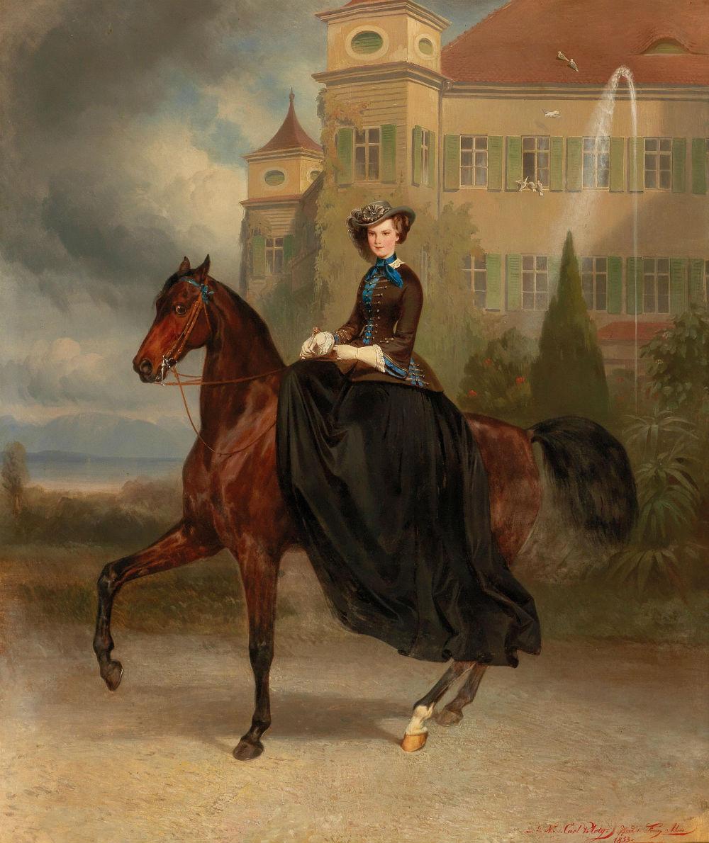 Karl Theodor von Piloti. Elizabeth of Bavaria, future Empress of Austria