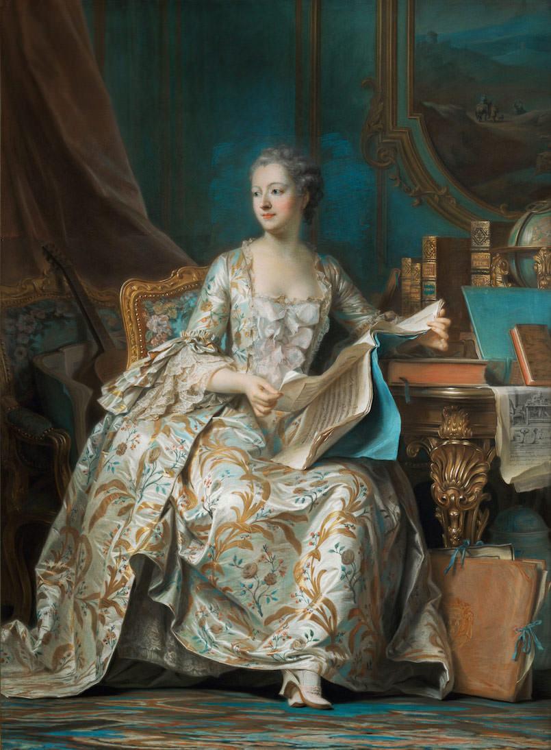 Морис Кантен де Латур. Портрет маркизы де Помпадур