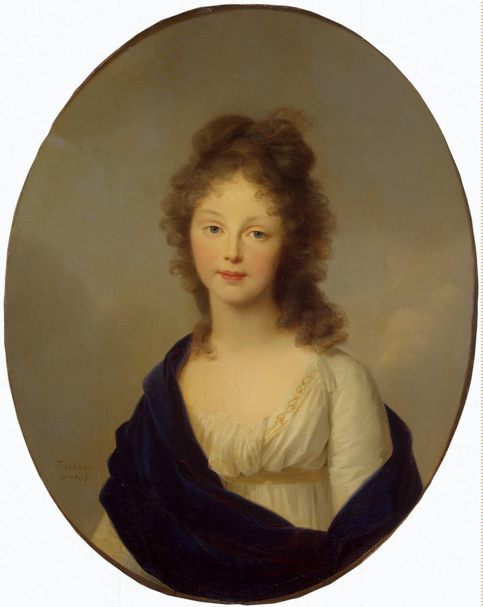 Иоганн Фридрих Август Тишбейн. Портрет прусской королевы Луизы