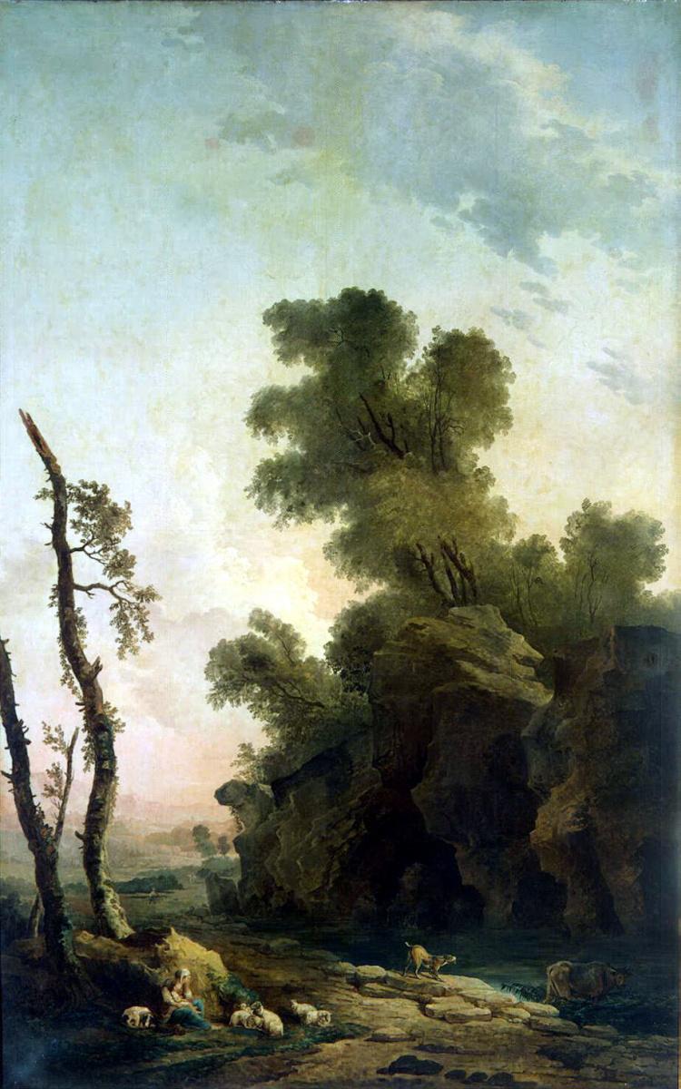 Гюбер Робер. Пейзаж со скалами