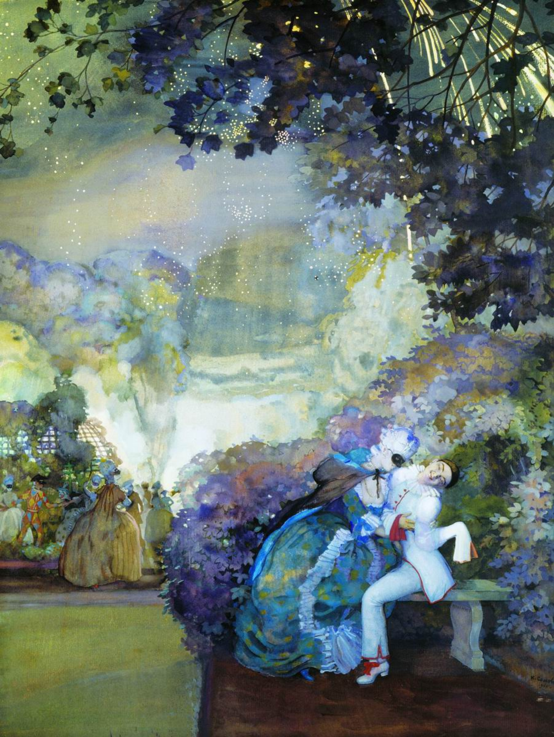 Konstantin Somov, Pierrot and Lady, 1910, Odessa Finearts museum, Odessa, Ukraine.